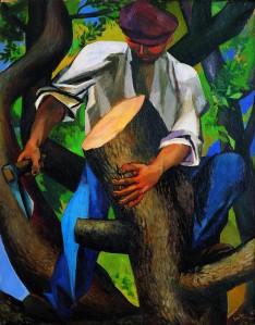 RENATO GUTTUSO Boscaiolo, 1950 (Premio Suzzara 1950) olio su tela 93,2x73,8